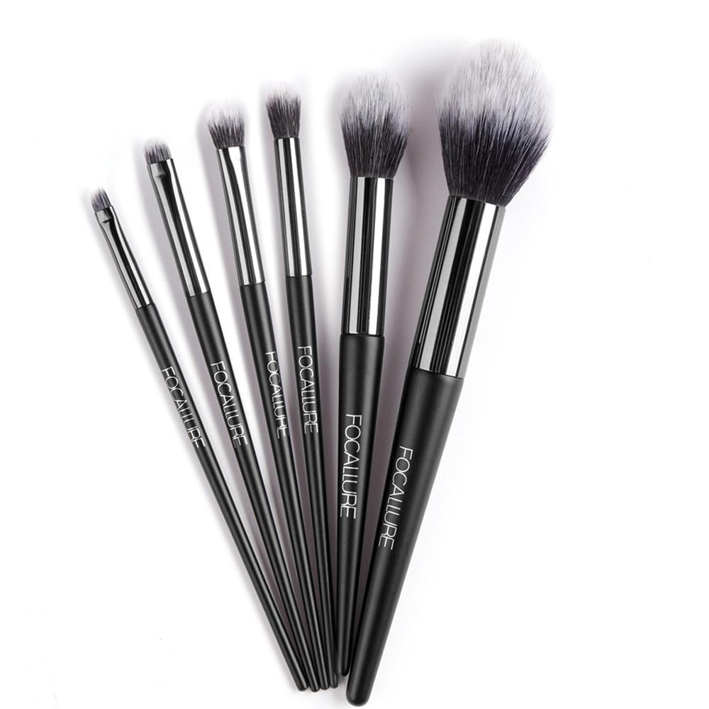 6Pcs Nylon Makeup Brushes Set Eyeshadow Blending Makeup ...