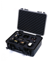Tool case toolbox waterproof protective equipment case camera case suitcase with pre cut foam lining Panel installation box