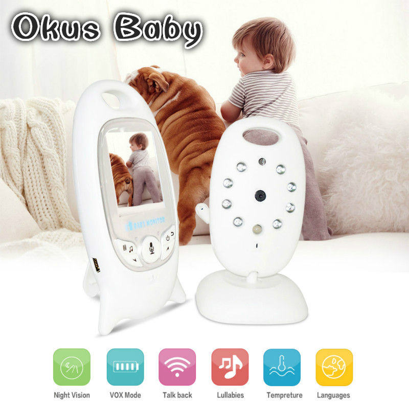 Baby Sleeping Monitor Color Video Wireless with camera baby electronic Security 2 Talk Nigh Vision IR LED Temperature Monitoring baby sleeping monitor color video wireless with camera baba electronic security 2 talk nigh vision ir led temperature monitoring