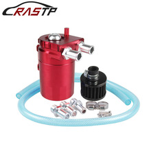 RASTP-Universal Oil Catch Can/Tank With Breather Filter Reservoir Turbo for Car Engine Oil Catch Tank RS-OCC009 все цены