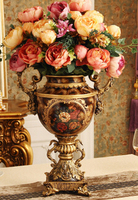 The European antique vase. Flower arranging furnishing articles