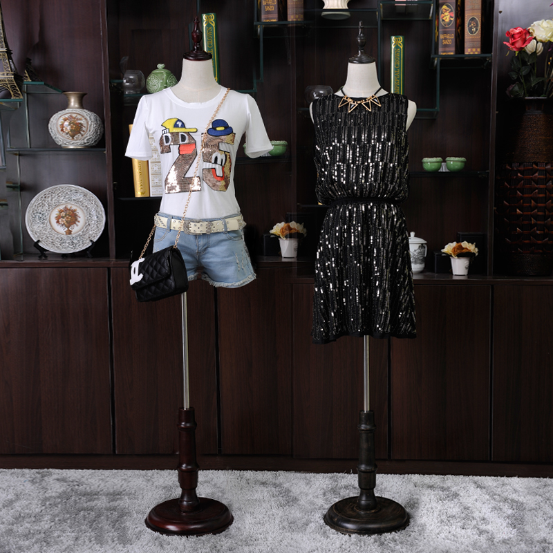 Clothes mannequins female half-length cloth wedding dress display mannequin women fabric mannequin with wooden arms