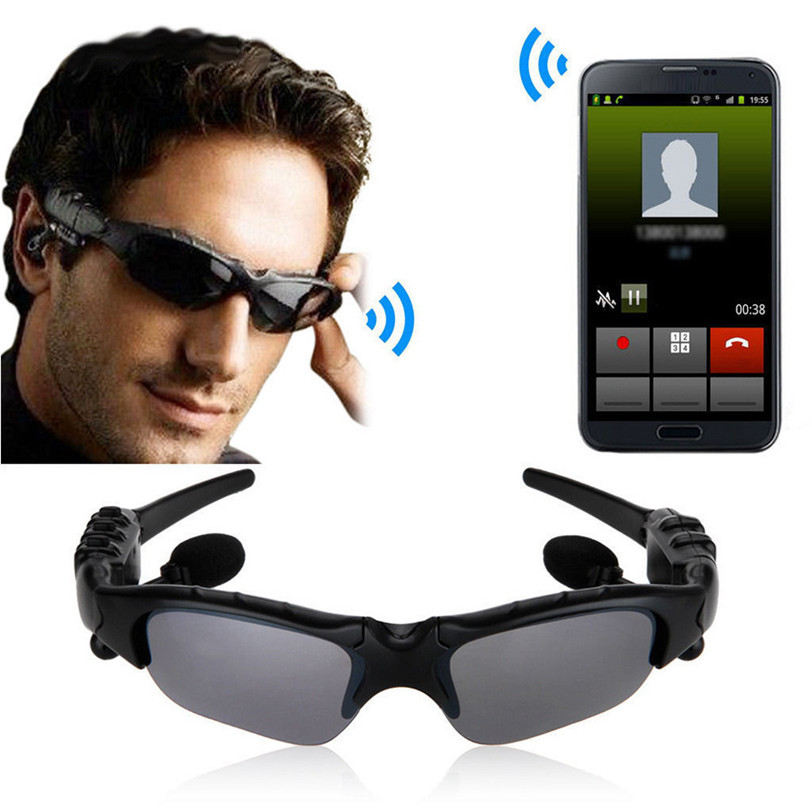 Wireless Bluetooth SunGlasses Headset Headphones Handfree For Phone Jul25 Professional Factory Price Drop Shipping kz headset storage box suitable for original headphones as gift to the customer
