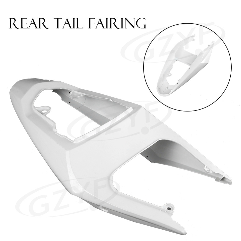 Motorcycle Tail Rear Fairing Parts for Suzuki 2004 2005 GSXR / GSX-R 600 750 GSXR600 GSXR750 K4 04 05, ABS Plastic Unpainted motorcycle rear seat pillion passenger cover tail section solo fairing cowl for suzuki gsxr600 gsxr750 gsxr 600 750 2006 2007