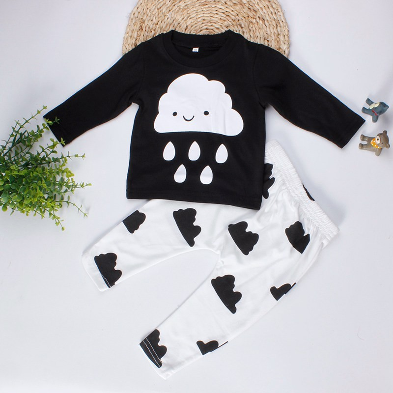 Cute Baby Boy Long Sleeve Cotton T-Shirt And Pants