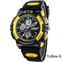 Wristwatches OTS Sports Children Watch Digital Led Watch 50M Waterproof Resistant Large Dial Clock Rubber Shock