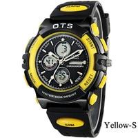 wristwatches OTS Sports Children watch Digital Led Watch 50M Waterproof Resistant large Dial Clock Rubber watch Resistant Watch
