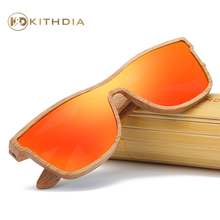 Kithdia Handmade Wood Sunglasses Polarized Red Mirror Lens With Bamboo Box and Support Drop Shipping / Provide Pictures #KD205