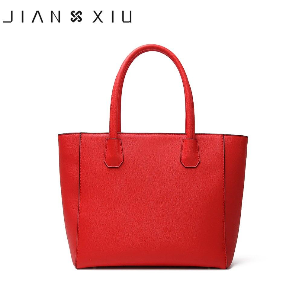 JIANXIU marque en cuir véritable sac à main de luxe sacs à main femmes sacs Designer fourre tout grande taille stockage voyage Composite sac deux couleurs-in Sacs à bandoulière from Baggages et sacs    3