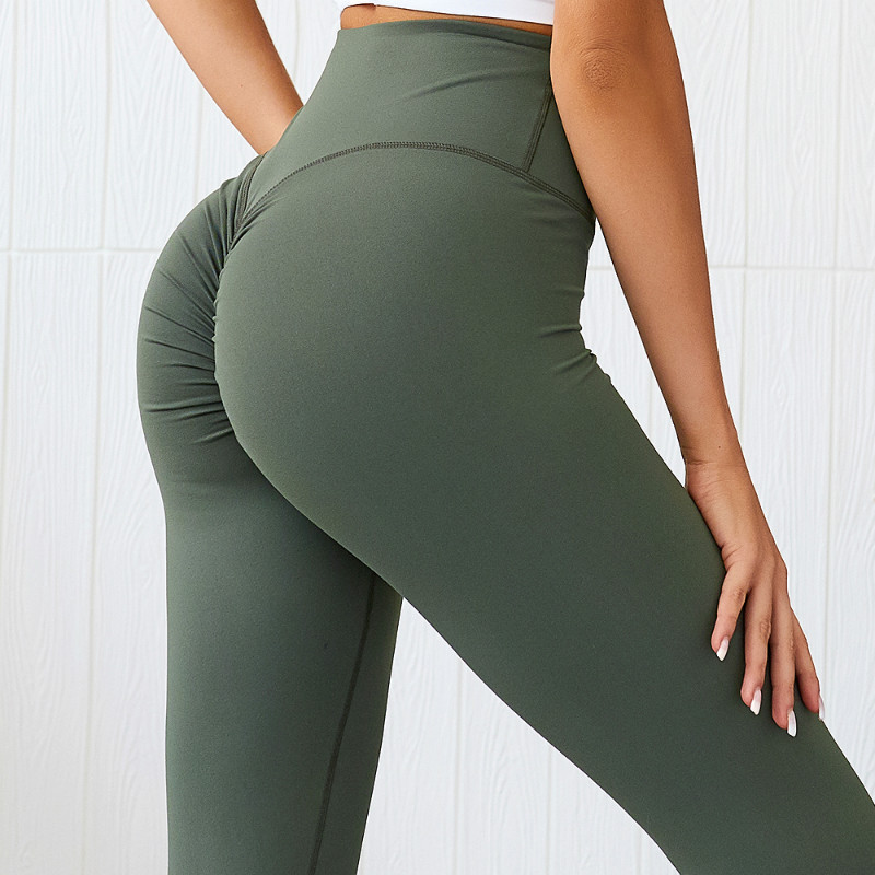 NCLAGEN 2019 Sexy Scrunch Yogaings Nylon Butt Lift Workout Sportswear GYMs Capris Women Squat Sweat Proof Skinny Booty Leggings