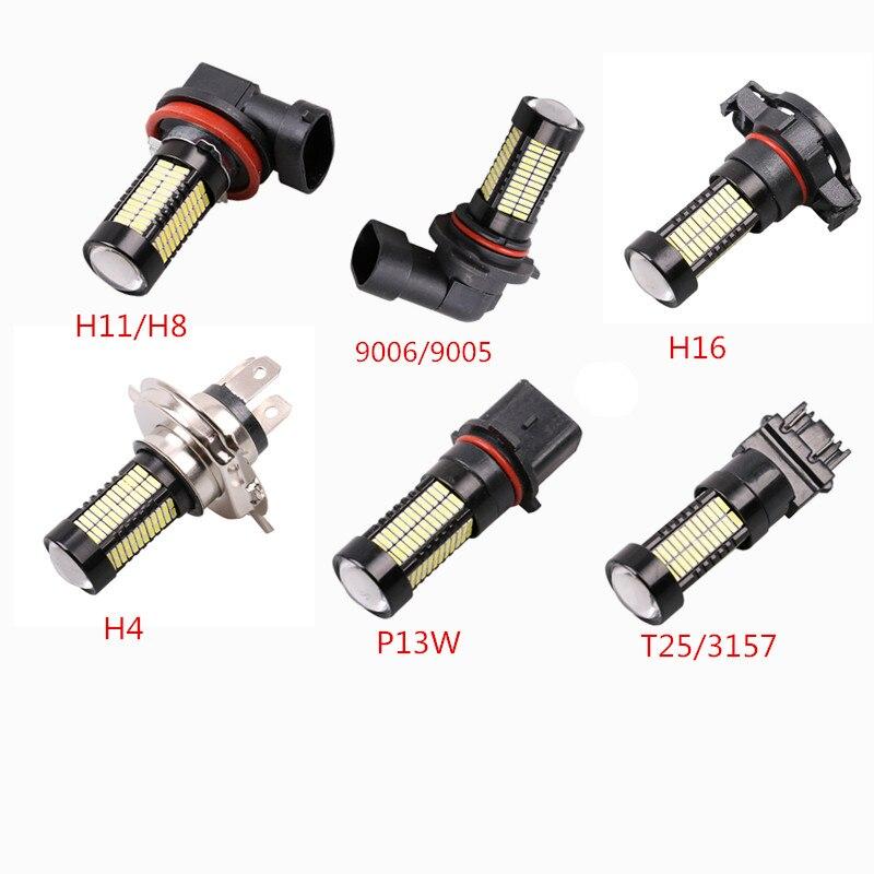 1pc H4 Led H11 H8 9005 HB3 9006 HB4 H16 P13W T25 3157 Car Bulbs Auto