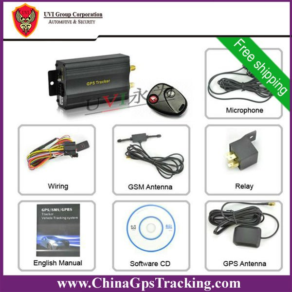 Car Gps Tracker With Remote Cut Off For Fuel Function Connected With Car