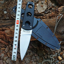 High Quality Tactical Hunting Knife Outdoor Rescue Camping Pocket Knives Blade Sanding Black Handle Knife