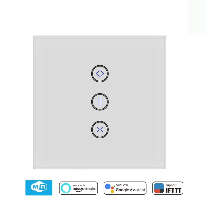 WiFi Curtain Switch Electric Motorized Curtain Blind Roller Shutter, Google Home, Amazon Alexa IFTTT Voice Control ,Tuya Smart