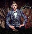 Бесплатная Доставка Новый мужской мужской моды случайные высокого класса личность двойной брестед тонкий длинное пальто 610063 custome выполненное на заказ
