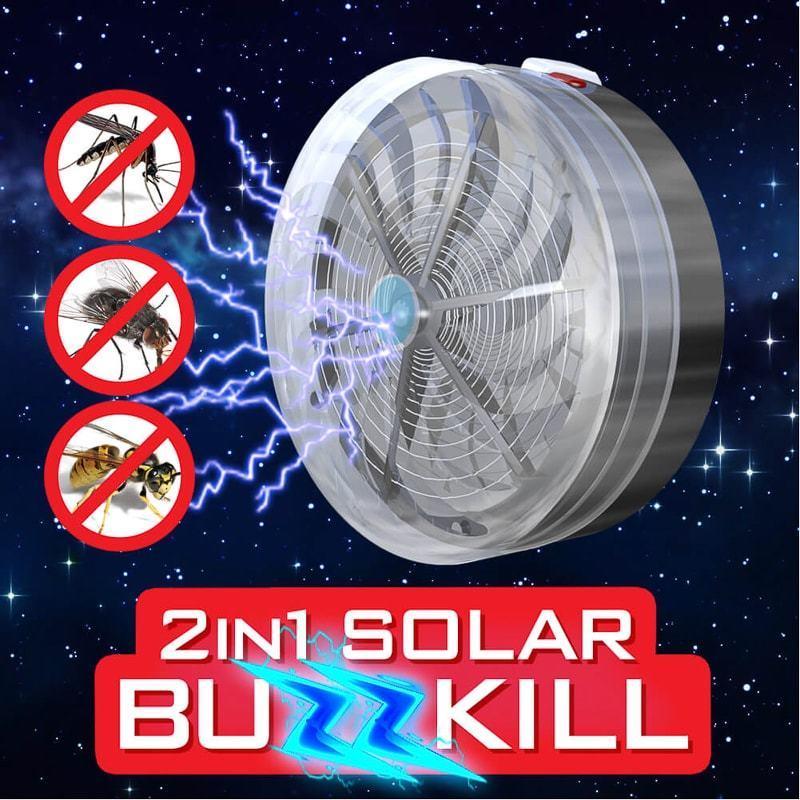 2 In 1 Solar Buzz Kill UV Licht Fly Insect Bug mok LAMP Thuis keuken Nieuwste Stunning Verlichting Unieke Zapper Buzz Killer