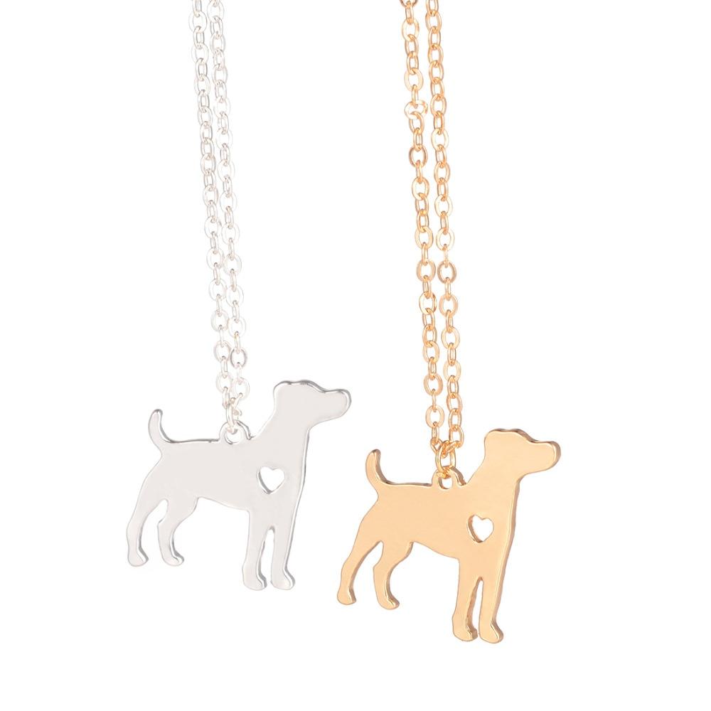 Collar llamativo Jack Russell Terrier Dog Jewelry Joyería personalizada para perros Colgante Pet Jewelry para mujeres hombres regalo