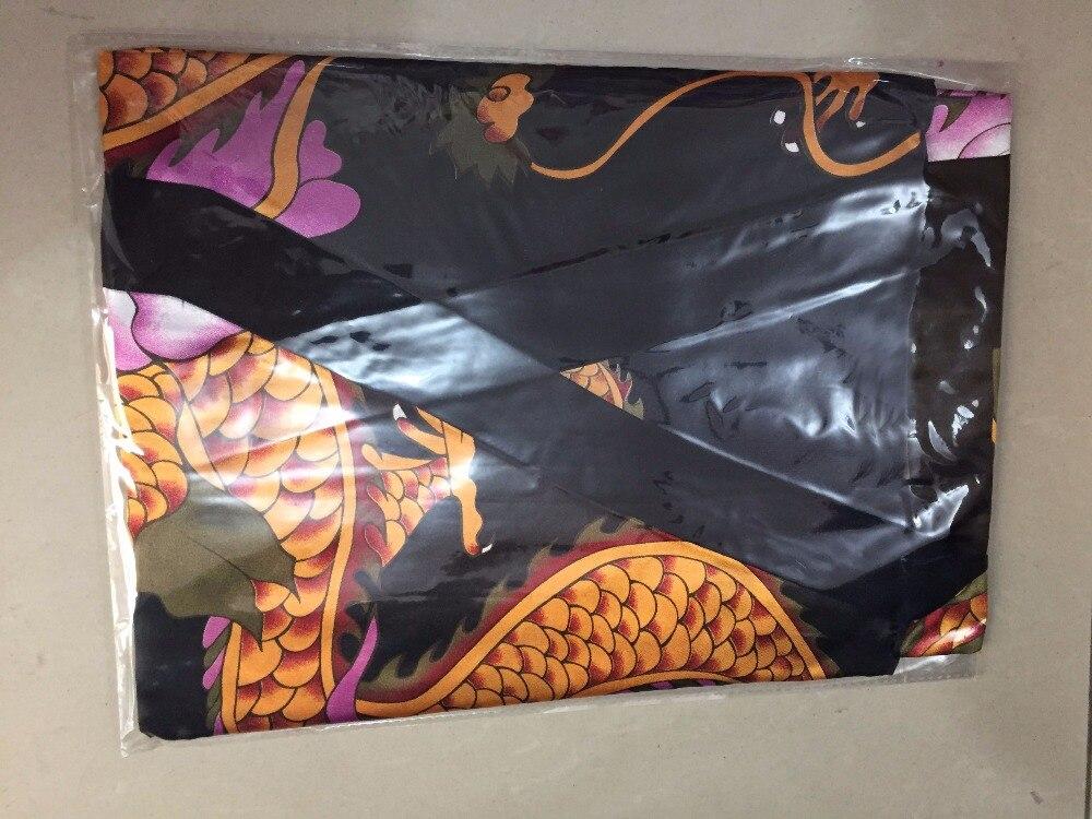 Vintage Chinese Women Satin Robe Dragon Print Nightgown Sleepwear Ladies Kimono Yukata Bath Gown Casual Home Wear One Size