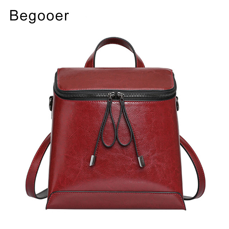 Small Backpack Women Oil Wax Leather Backpacks Vintage School Bags for Teenagers Travel Bag Pack Girls Mini Zipper Backpack oil wax canvas backpacks for women and men classic vintage leather bookbags school bag college travel green backpack