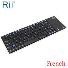 Original Rii i12 2.4G Wireless Mini French Keyboard with TouchPad for Laptop,Android TV Box,Mini PC France AZERTY Keyboard(China)