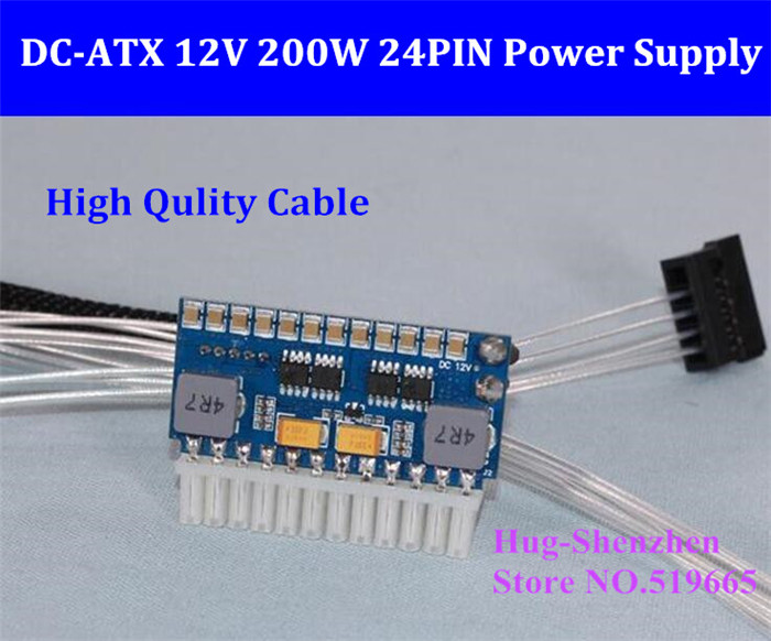 pico-Box Z2-ATX-200 DC 12V Pico ATX Switch PSU Car Auto Mini ITX High Power Supply Module 200W 24Pin ITX Computer Power Board весёлые истории в наклейках город