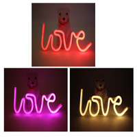 9 Type Love Modeling LED Alphabet Sign Wedding Party Man Courtship Props Letter Led Neon Lights