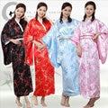 Японский Винтаж Оригинал Традиция Кимоно Дамы 4 Цвет для Gilrls Yakata Косплей Костюмы