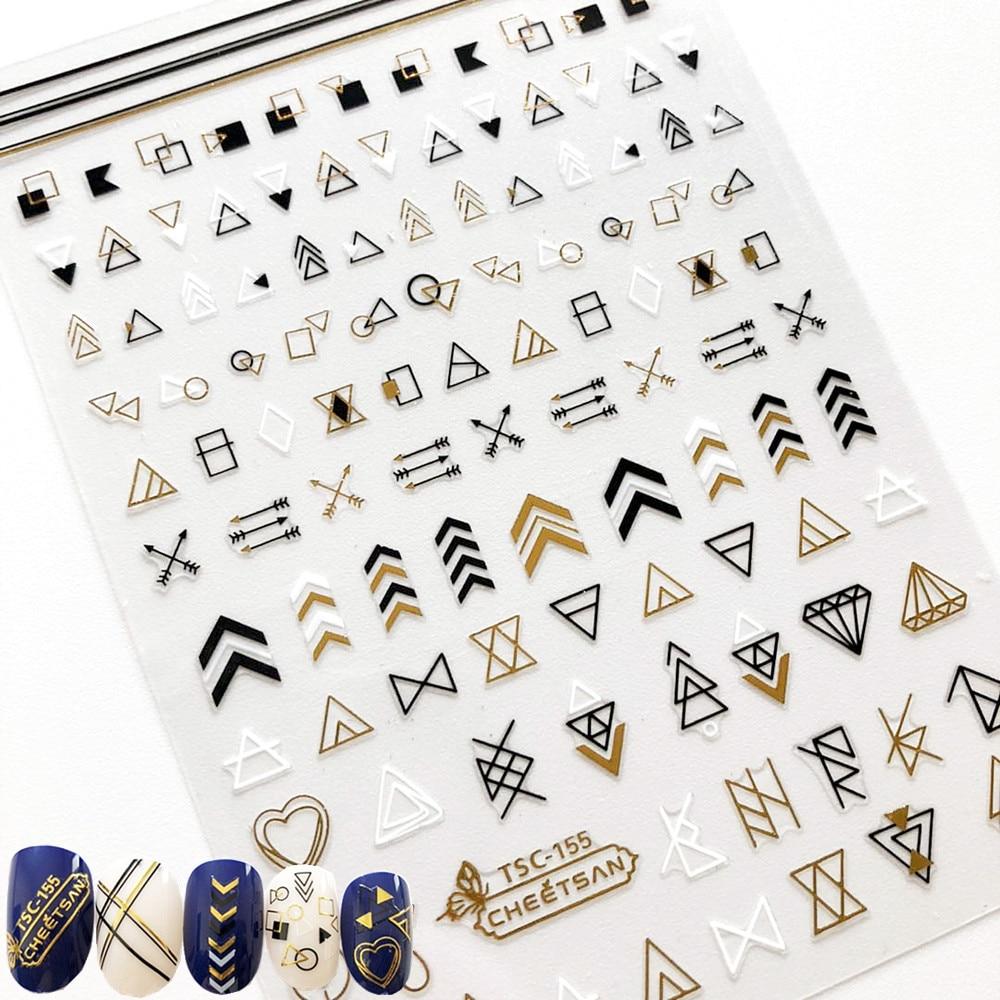 Newest TSC-155 nail art sticker 3d nail decal Nail decoration decal tool DIY nail stickers