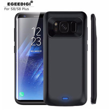 Egeedigi 5500mAh Battery Charge Case For Samsung Galaxy S8 Plus Slim External Pack Backup Battery Charge Power Bank Fitted Case