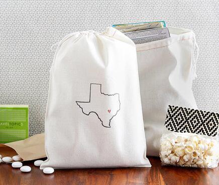 Personalized Custom State Outline Texas Wedding Hangover Kit Favor