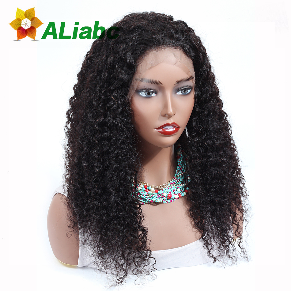 Aliabc 13 4 Lace Front Wigs Kinky Curly 100 Human Hair Wigs For Black Women Mongolian