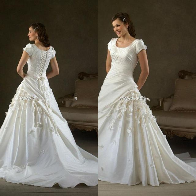 modern wedding dresses with sleeves plus size fancy gowns square ...