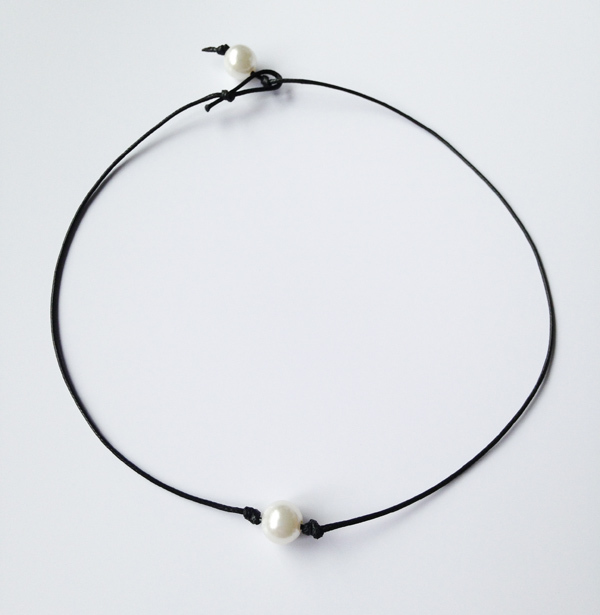 Attractive Drop Shipping Chic single cultured pearl necklace pearl choker  HP09