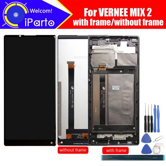6,0 дюймов Vernee Mix 2 ЖК дисплей Дисплей + сенсорный экран Экран + рамка 100% оригинал испытания планшета Стекло Панель Замена для Mix 2