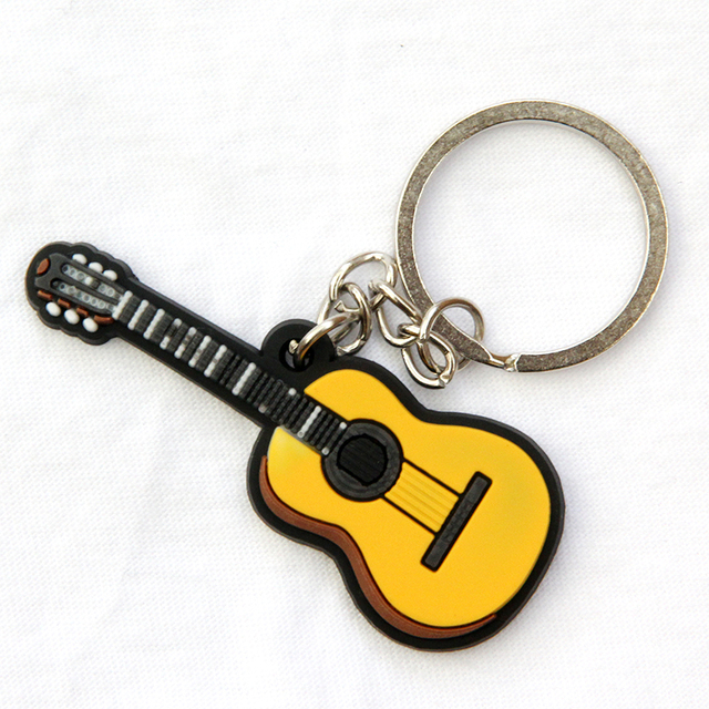 FREE SHIPPING BY DHL 100pcs lot Novelty Silicone Classical Guitar Shaped  Keychains Music Instrument Keyrings f30919ab8