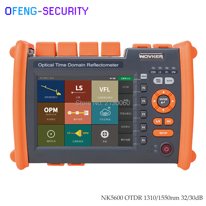 NK5600 Single-mode OTDR 30/32dB 1310/1550nm With VFL OPM Light Source Fiber Optical Time Domain Reflectometer