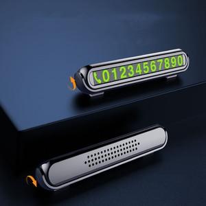 Image 1 - Auto di Parcheggio temporaneo con Aromaterapia Numero di Telefono Carta di Luce di Notte Car Styling Numero di Telefono Card Nascosta Numero di Targa