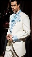 Classic Style Ivory Groom Tuxedos Groomsmen Men's Wedding Prom Suits Custom Made (Jacket+Pants+Girdle+Tie) K:366