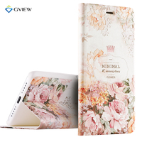 Luxury PU Leather 3D Relief Printing Stereo Feeling Smart Flip Cover Case For Xiaomi Mi 5s