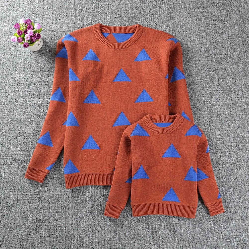 Мама и я Обувь для девочек Обувь для мальчиков Для женщин геометрия длинный рукав вязаный Топы корректирующие Семья наряды одежда No22