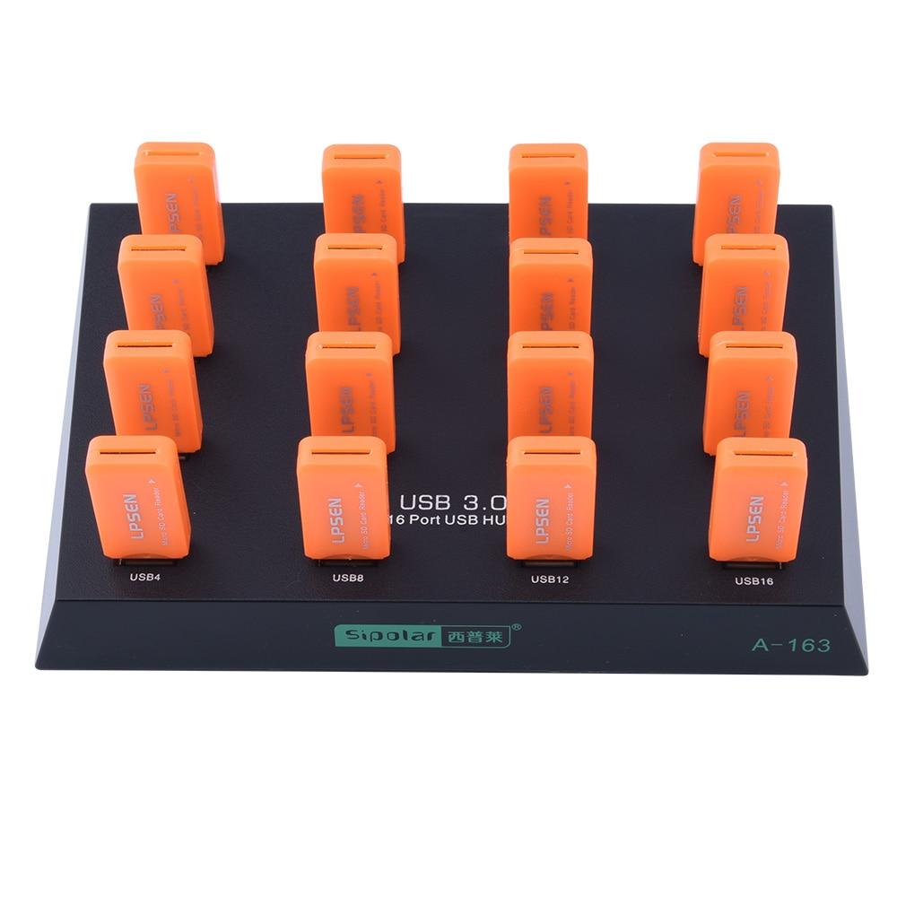 Sipolar best selling USB 3.0 HUB 16 ports with 1 year quality guarantee guarantee 100