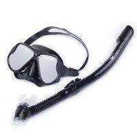 Yetişkin Profesyonel Silikon Şnorkel Anti-Sis Dalış Maskesi, Tam Kuru Solunum Tüp Seti Yüzme Gözlük Dalış Ekipmanları Mavi Pembe