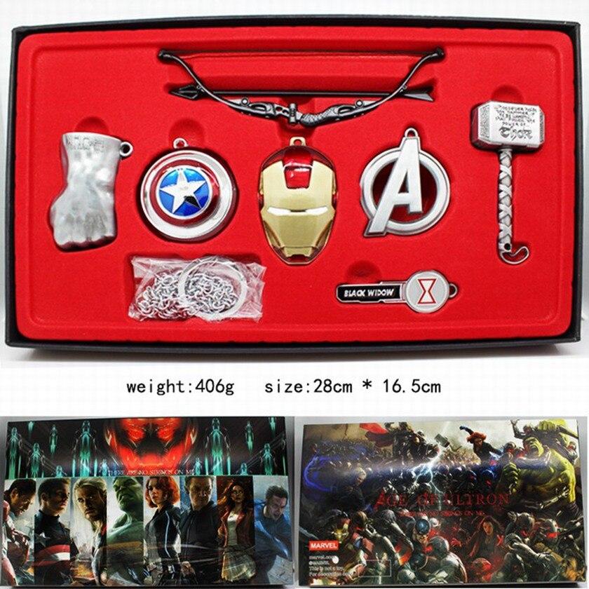 Винтажные игрушки Marvel, Мстители, бесконечность, война, перчатка Таноса, бесконечность, рукавица, брелки, маска Железного человека, Халка, косплей, брелок, детский подарок - Цвет: serie 2 silver