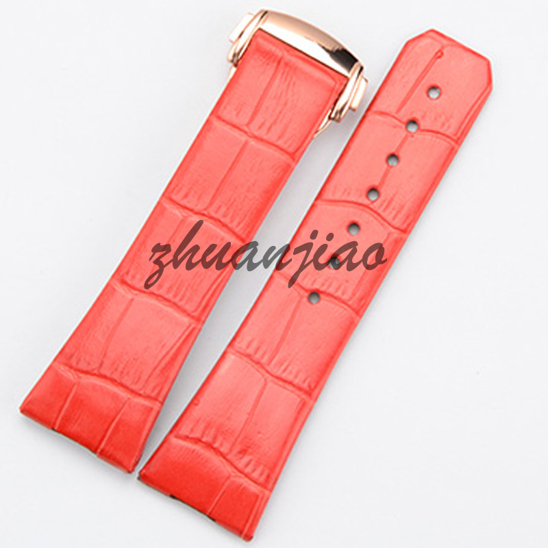 123 constellation Series Leather Watchband butterfly buckle watch accessories red purple woman 23mm