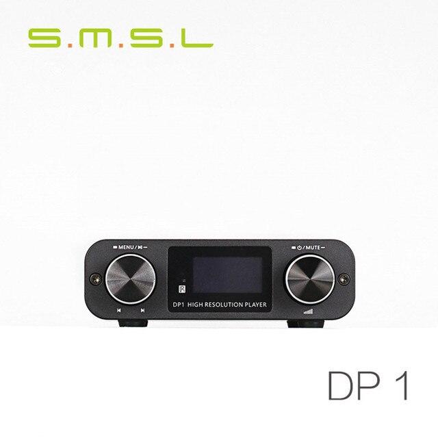 Новый SMSL DP1 HI-FI Audio Decoder Усилитель Для Наушников 32Bit/192 КГц USB DAC Домашнее Аудио Цифровой Проигрыватель HIFI Без Потерь плеер Черный