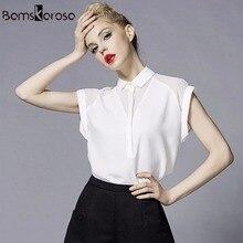 2019 Summer Style Blouse Women Fashion White Chiffon Elegant