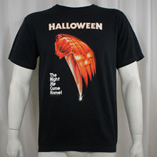 Authentic HALLOWEEN Movie Poster Michael Myers T-Shirt S M L XL XXL NEWLoose Black Men T shirts Homme Tees