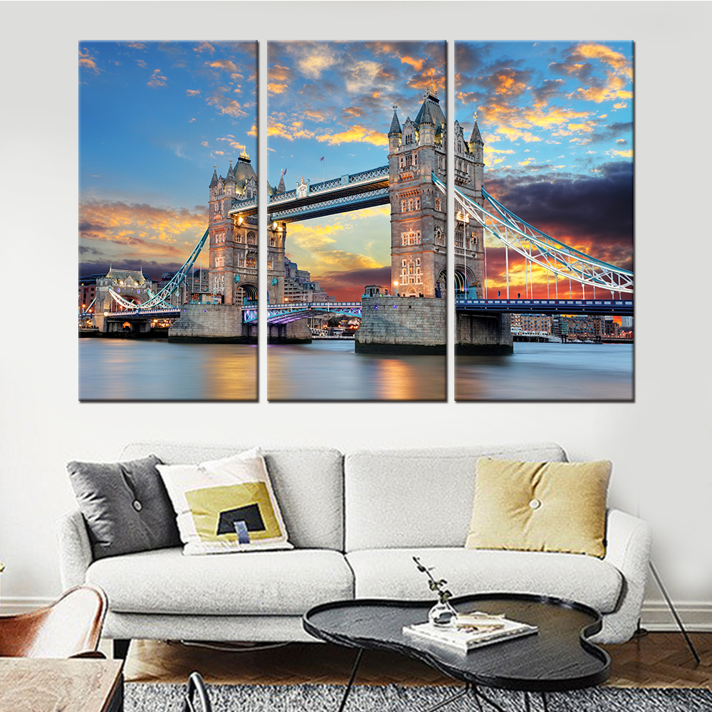 online get cheap simple famous paintings aliexpress com alibaba unframed drop shipping 3 pieces posters and prints famous building landscape canvas wall art pictures for living room home decor