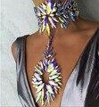 Starburst dvacaman 2016 new arrival moda za colar declaração de cristal flor colar & pendant choker jóia colar 7041