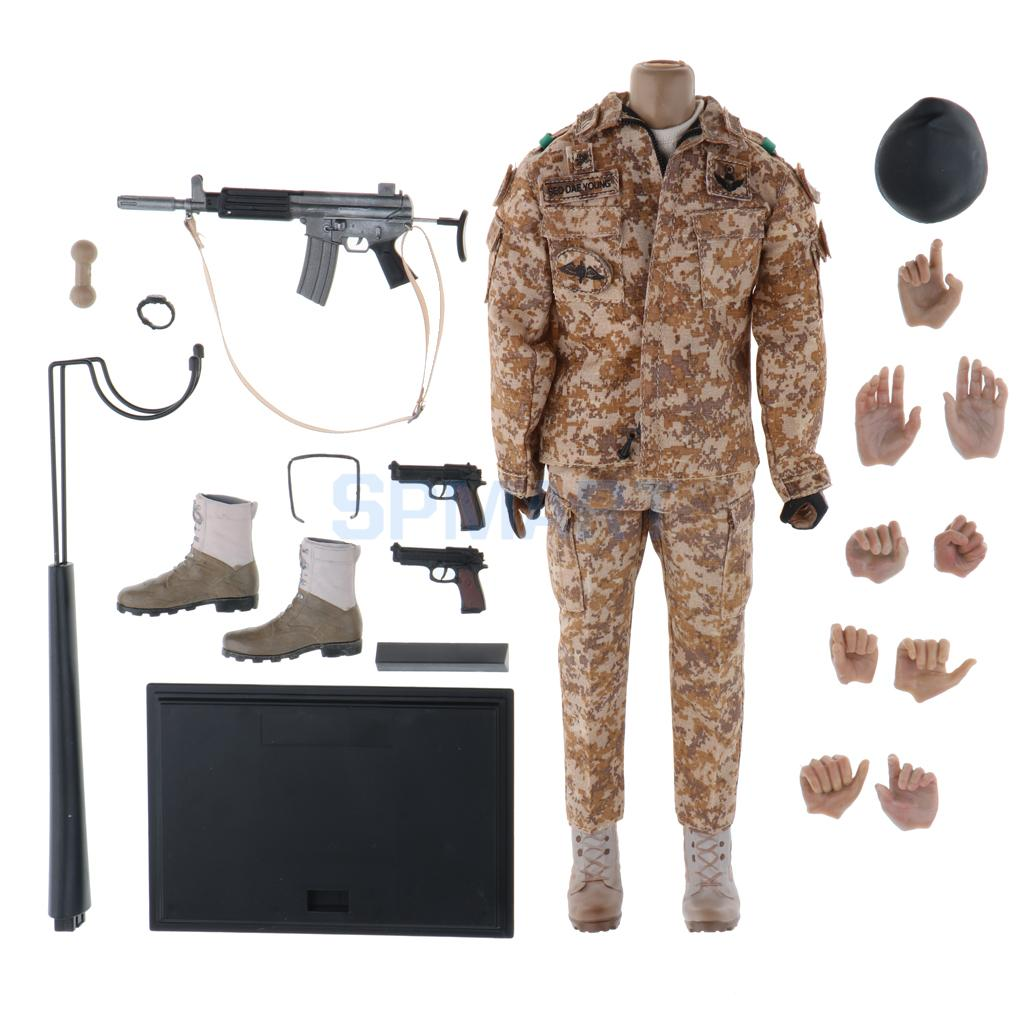 1/6 Scale Collectible Soldier Action Figure Body Clothes and Accessories Set for Hot Toys Sideshow Soldier Story военные игрушки для детей soldier story 1 6 ss 067 fbi 2 0 hrt